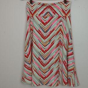 LuLaRoe Multi Color Chevron Striped Skirt …